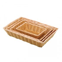 Genware Polywicker Rectangular Basket 25.4x17.75cm