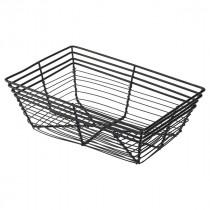 Genware Black Wire Basket Rectangular 23x15x7.5cm