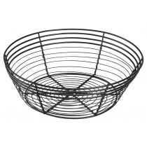Genware Black Wire Basket Round 25.5x8cm