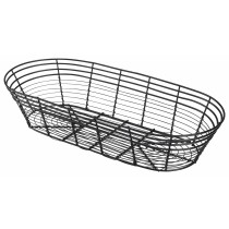 Genware Black Wire Basket Oblong 39x17x8cm