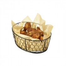 Genware Black Wire Basket Oval 23x17x10.5cm
