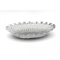 Genware Stainless Steel Oval Basket 240x175mm