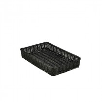 Genware Wicker Display Basket Black 46x30x8cm