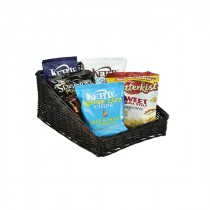 Genware Wicker Display Basket Black 46x36x20cm