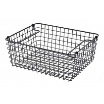 Genware Wire Basket Rectangular Black GN 1/2