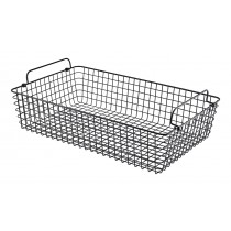 Genware Wire Basket Rectangular Black GN 1/1