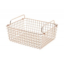Genware Wire Basket Rectangular Copper GN 1/2