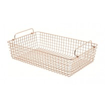 Genware Wire Basket Rectangular Copper GN 1/1