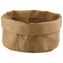Genware Washable Paper Bag Brown 20cm Diameter