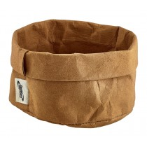 Genware Washable Paper Bag Brown 13cm Diameter