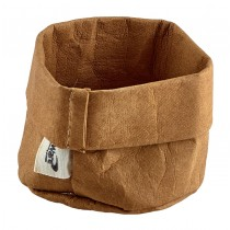 Genware Washable Paper Bag Brown 7cm Diameter
