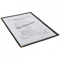 Berties American Style Clear Menu Holder A4 1-Page