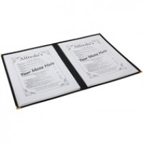 Berties American Style Clear Menu Holder A4 2-Page