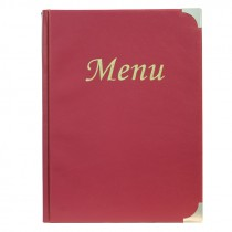 Berties Basic A5 Menu Cover Wine Red 8 Pages