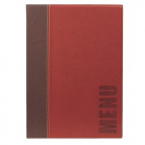 Berties Contemporary A4 Menu Cover Wine Red 4 pages