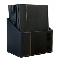Berties Contemporary Menu Box Black and 20 x Black A4 Menu C
