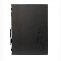 Berties Contemporary A4 Wine List Black 8 pages