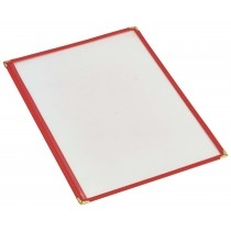 Berties American Style Red Menu Holder A4 2-Page