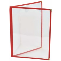 {Berties American Style Red Menu Holder A4 4-Page}