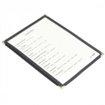 Genware American Style Menu Holder Clear A5 2-Page