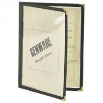Genware American Style Clear Menu Holder A5 2-Page