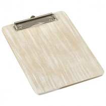 Genware Wooden Menu Clipboard A5 White Washed 18.5x24.5cm