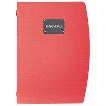 Berties Rio A4 Menu Holder Red 4 Pages