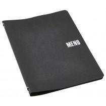 Genware Washable Paper Menu Holder Black A4