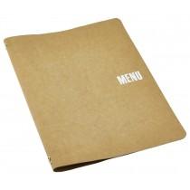 Genware Washable Paper Menu Holder Brown A4