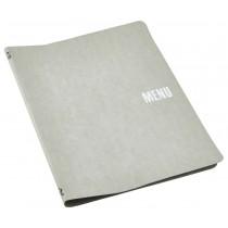 Genware Washable Paper Menu Holder Grey A4