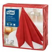 Tork Linstyle Red Dinner Napkin 39cm