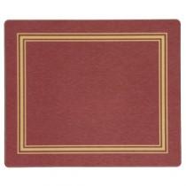 "Berties Melamine Standard Placemat Red 19x24cm/7.5x9.5"""