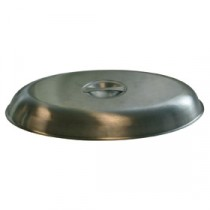 Genware Stainless Steel Cover for Oval Vegetable Dish 250mm