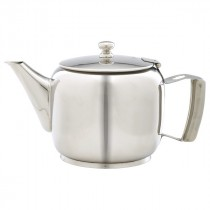Genware Stainless Steel Premier Teapot 120cl