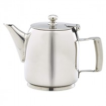 Genware Stainless Steel Premier Coffee Pot 35cl