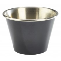 Genware Stainless Steel Ramekin Black 7cl/2.5oz