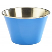 Genware Stainless Steel Ramekin Blue 17cl/6oz