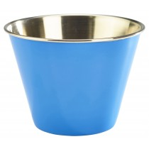 Genware Stainless Steel Ramekin Blue 34cl/12oz