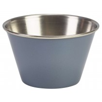 Genware Stainless Steel Ramekin Grey 17cl/6oz