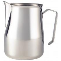 {Genware Stainless Steel Premium Milk Jug 100cl/32oz}
