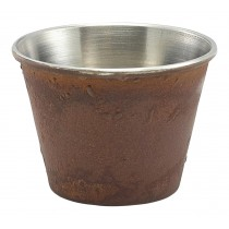 Genware Stainless Steel Ramekin Rust Effect 7cl-2.5oz