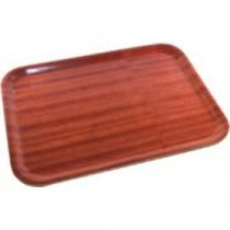 Genware Dark Wood Rectangular Tray 460x340mm