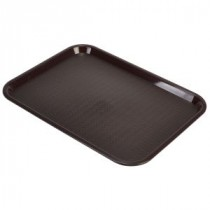 Genware Fast Food Rectangular Tray Chocolate 406x305mm