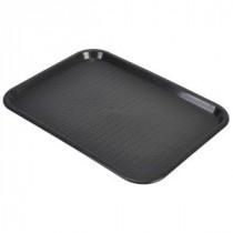 Genware Fast Food Rectangular Tray Black 457x365mm