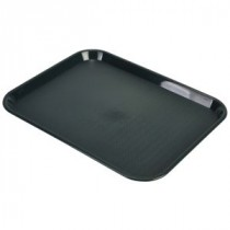 Genware Fast Food Rectangular Tray Forest Green 457x365mm
