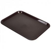 Genware Fast Food Rectangular Tray Chocolate 457x365mm