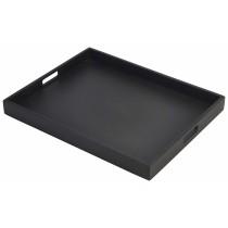 {Genware Wooden Butlers Tray Black 49x38x4.5cm}