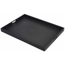 {Genware Wooden Butlers Tray Black 64x48x4.5cm}