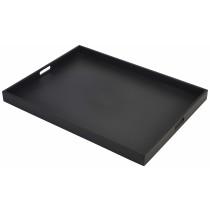 {Genware Wooden Butlers Tray Black 64x48x4.5cm}