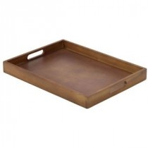 Genware Acacia Wood Butlers Tray 44x32x4.5cm